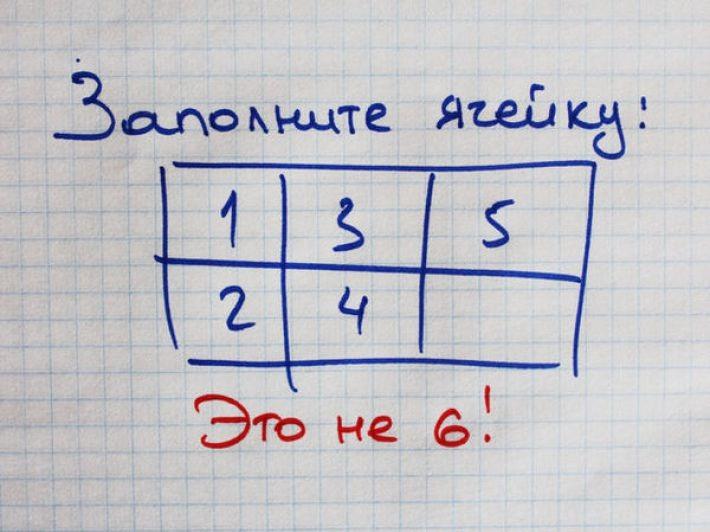загадка з цифрами 1-5